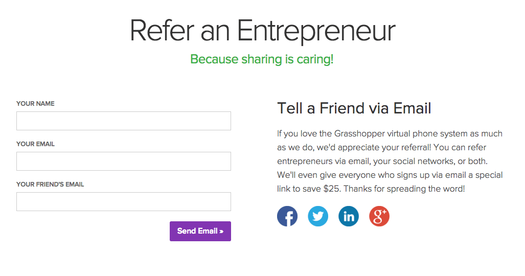 Example of how to build a Referral Program