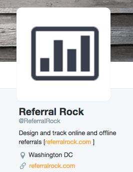 Promote referral program with social media bio