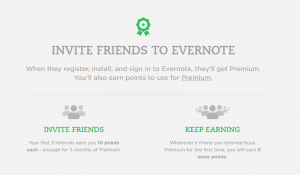 evernote referral program example