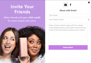 julep referral program example
