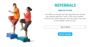 ymca referral program