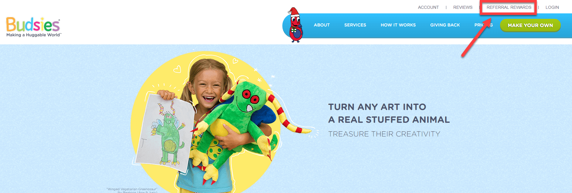 budsies referral promotion