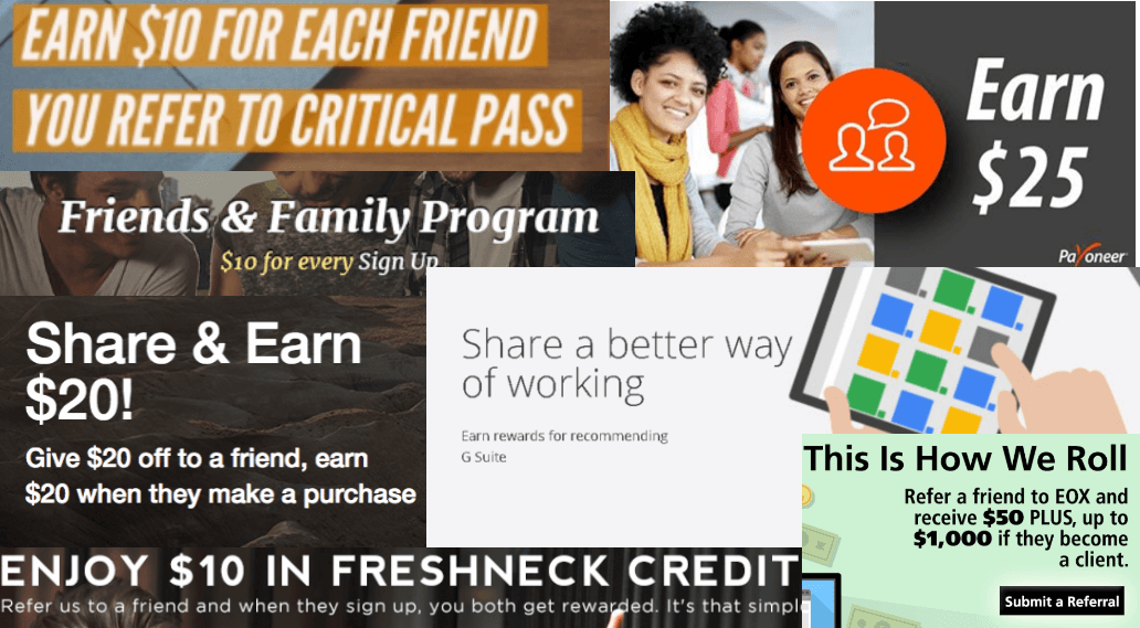 referral program example collage