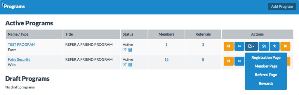 active program updates