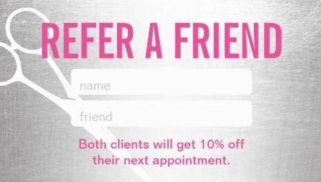refer a friend card haircut