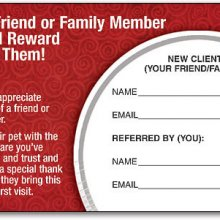 Refer a friend or family member and we'll reward you- and them!