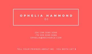 ophelia hammond refer a friend card