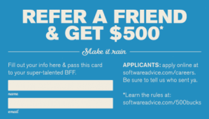 15 examples of referral card ideas and quotes that work refer a friend an get 500 fill out your info and pass this card to your super talented bff colourmoves