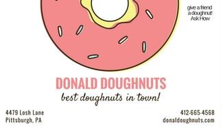 adonald doughnuts refer a friend card