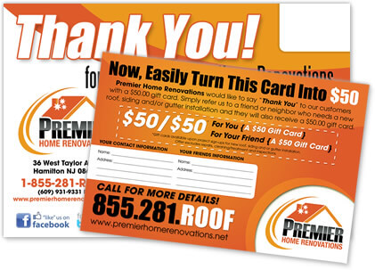 sign up form referral postcard