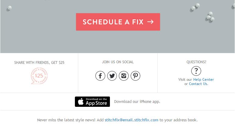 StitchFix's refer a friend marketing