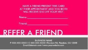 present a refer a friend card