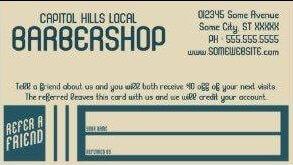 barbershop referral card