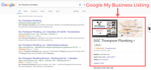 A Google My Business (GMB) example
