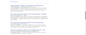 Another example of top SERPs