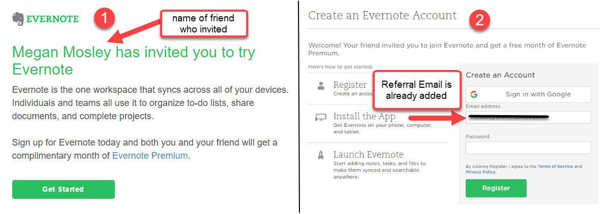 personalize the referral invite