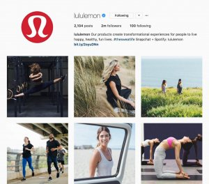Lululemon's user generated content
