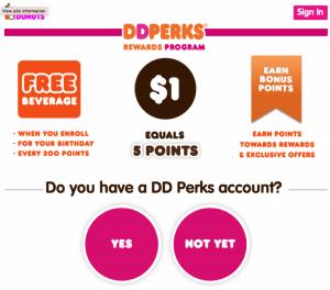 Dunkin Donut's customer loyalty program