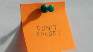 post it note reminder