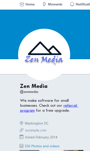 zen media social media page