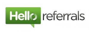 Hello Referrals website logo - a referral software