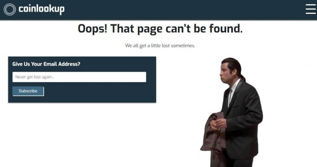 coinlookup 404 page