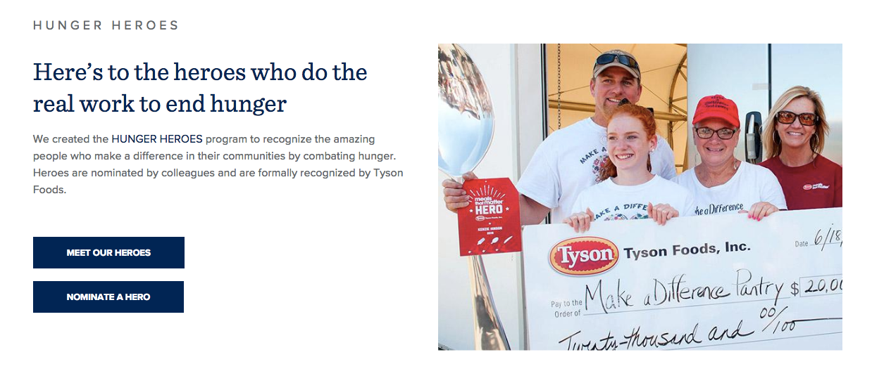 tysonfoods.com pledging and building relationships wit customers who care