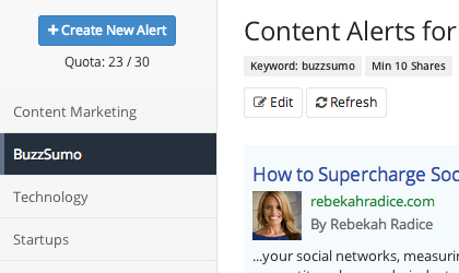 Buzz sumo examples of mentions