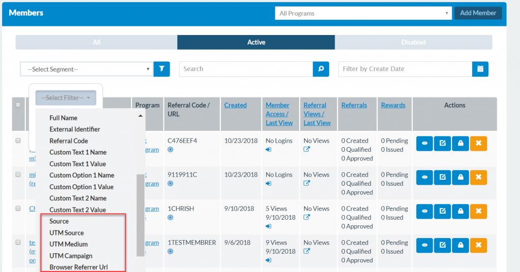 member page screenshot