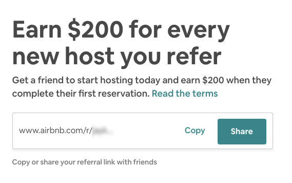 airbnb refer a host referral program example