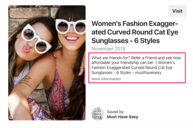 musthave.sexy pinterest sunglass sharing example