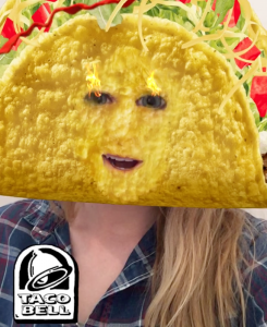 Taco Bell's Cinco De Mayo snapchat taco face brand example