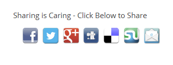 sharing is caring social media icons