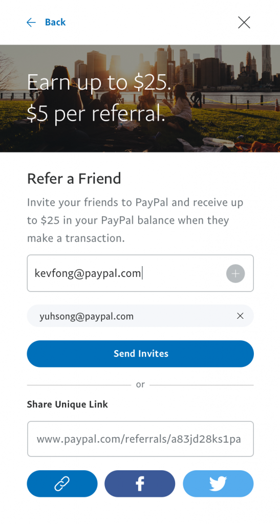 paypal refer a friend