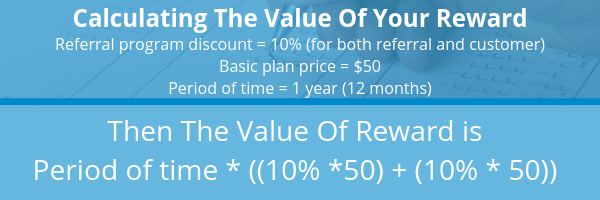 calculating the value of your referral rewards formula