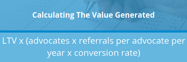 calculating the value generated for your referral program formula