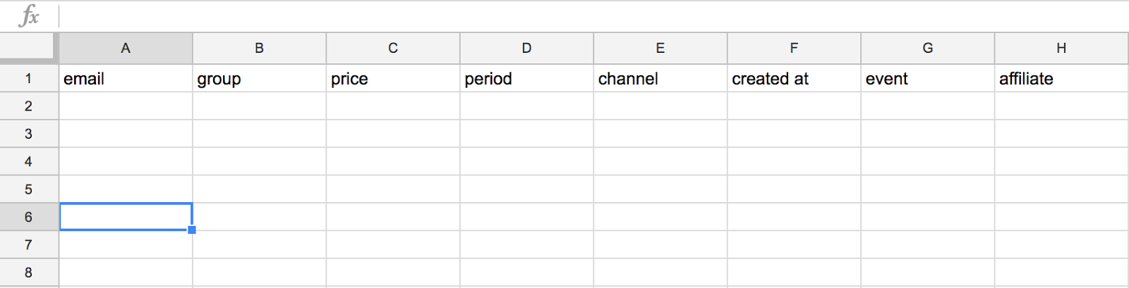 google spreadsheet examples of tracking referrals