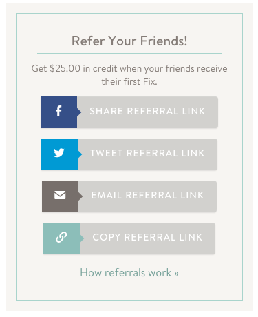 refer your friend social media links examples