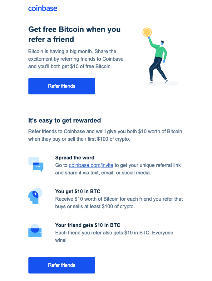 Coinbase refer a friend email