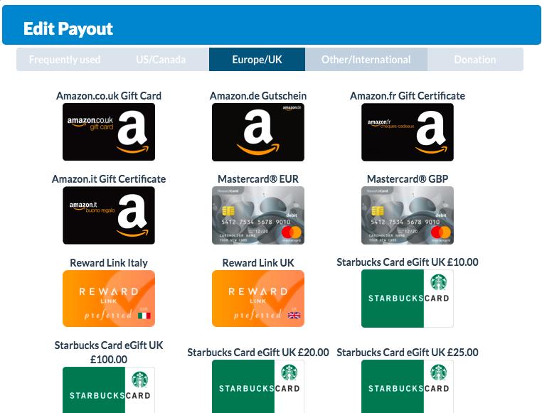 edit payout europe/uk