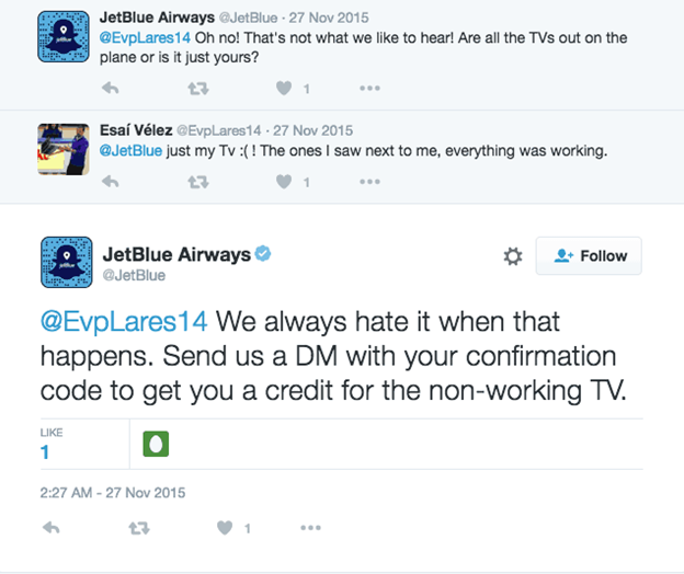 jetblue airways social media