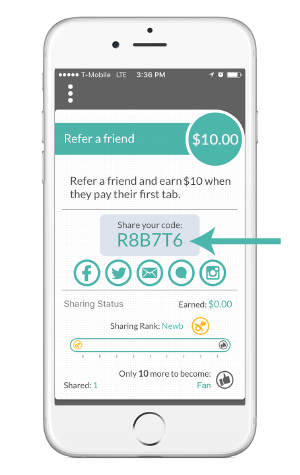 tabbedout app referral program