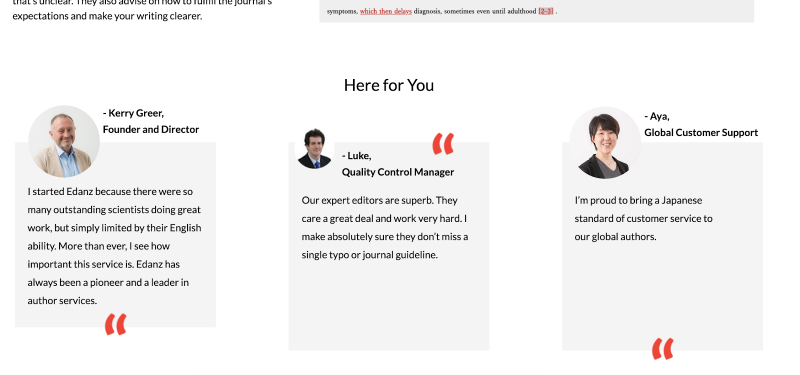 collection of employee quotes