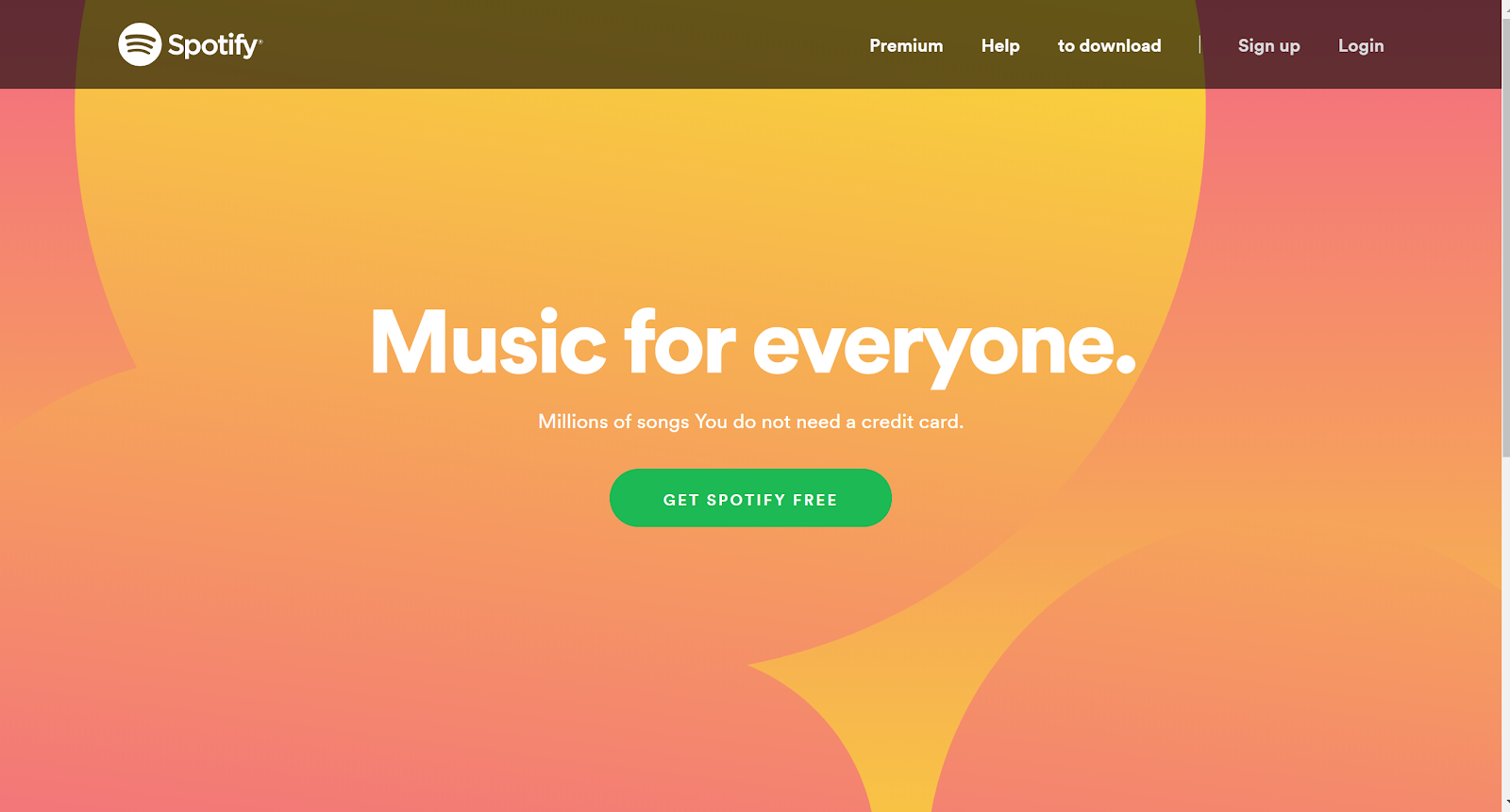 Music for everyone Spotify premium free trial