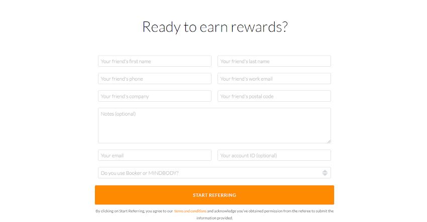 example rewards program