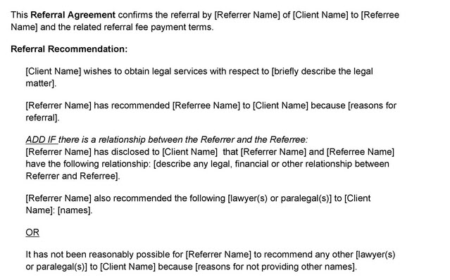 referral agreement example
