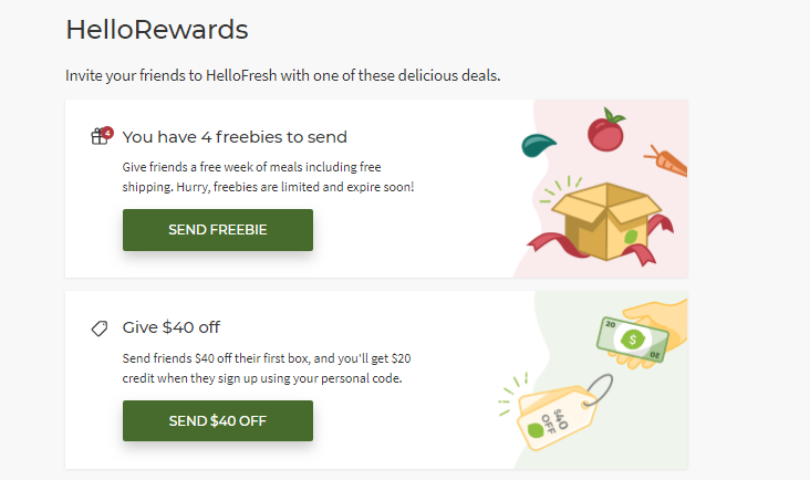 HelloFresh Referral Rewards and Incentives