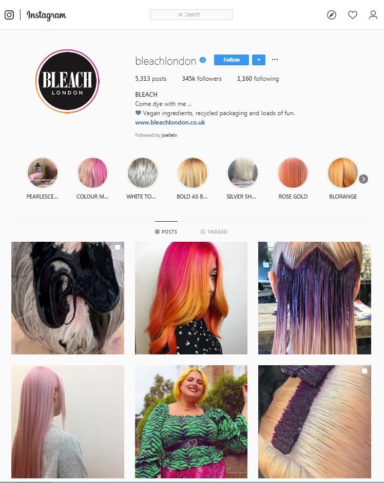bleach instagram