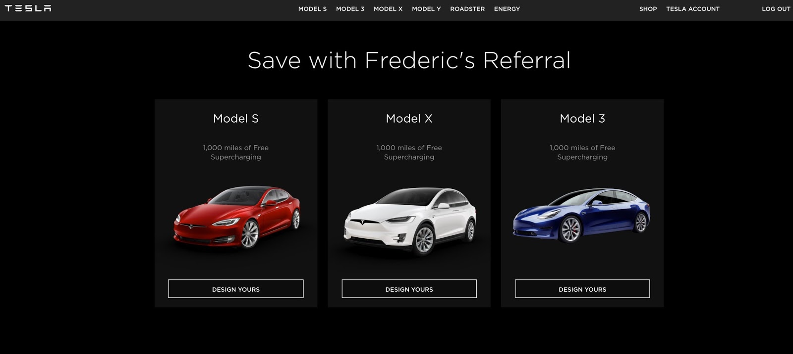 Tesla Flyer Website