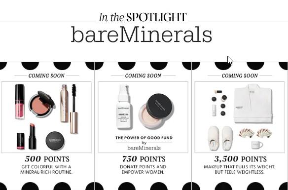 bare minerals rewards